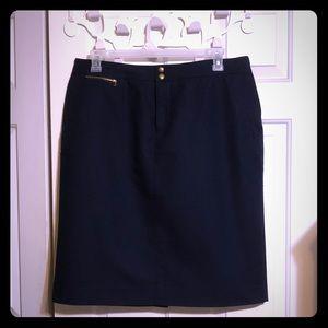 Lauren by Ralph Lauren 14W navy skirt